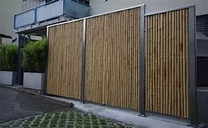 Bambus Sichtschutz Mit Edelstahl : bambus fotogalerie was aus bambus gemacht werden kann fotos unserer kunden und sonderanfertigungen ~ Frokenaadalensverden.com Haus und Dekorationen