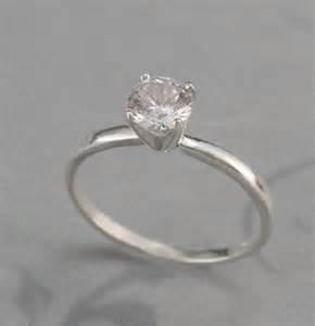 plain faux engagement ringsilver by debblazer on etsy - Plain Engagement Rings
