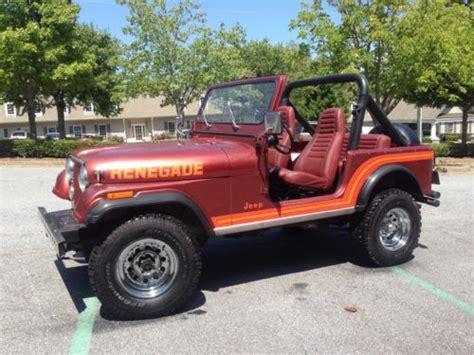 jeep renegade targa top sell used 1986 jeep cj 7 renegade original rare rust free