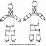 Dolls Wooden Spool Coloring Suspicious String Very Doll Spools Folk Nursery sketch template