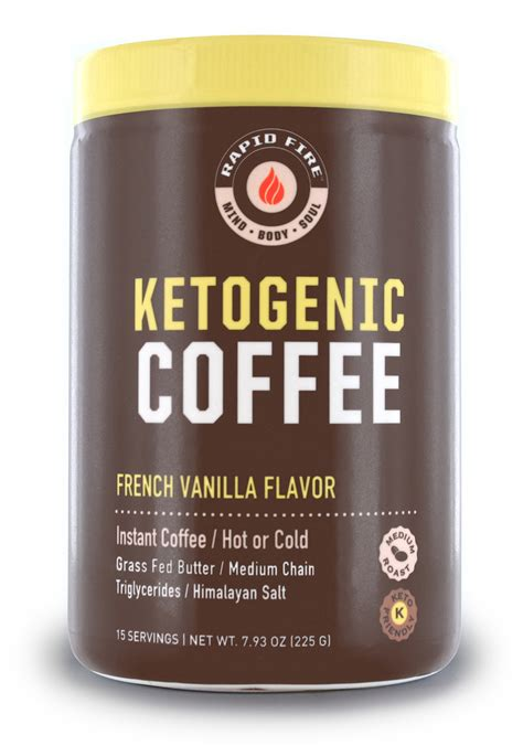 All the creamy goodness, without all the carbs. Rapid Fire Ketogenic Coffee French Vanilla Canister - Windmill Vitamins