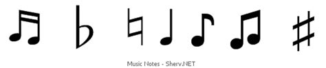 The music note symbols are similar in shape and easy to recognize. Music notes text emoticons & symbols ♯♬ ♪ ♮♫♭♩ | ASCII/Unicode art for Texting, Facebook, Skype ...