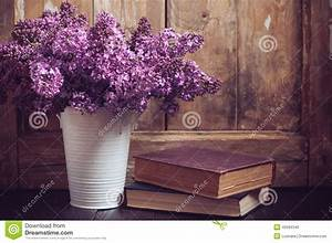Vintage Bouquet Of Lilac Flowers Stock Photo - Image: 40094340