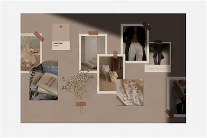 Mood Board Realistic Wall Mockups Psd Natural