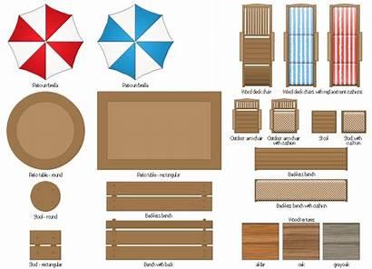 Furniture Patio Clipart Wood Elements Clip Garden