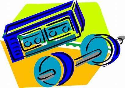 Workout Gym Clipart Stuff Clip Tag Split