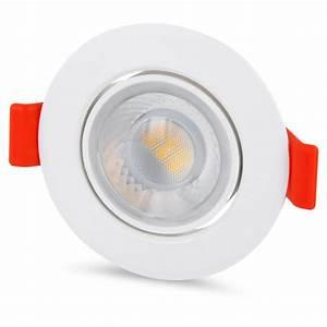 Led Spot 230v : led spot einbaustrahler 8w 640lm 230v 65mm schwenkbar tageswei einbauleuchte ebay ~ Watch28wear.com Haus und Dekorationen