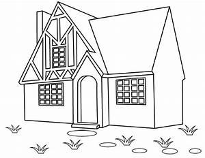 coloriage une maison doryfr coloriages With dessin de maison en bois