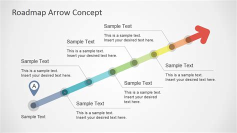 modern home layouts colorful roadmap arrow concept for powerpoint slidemodel