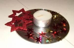 Mit Cds Basteln : cd kerzenst nder dekoration f r weihnachten ~ Frokenaadalensverden.com Haus und Dekorationen