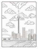 Toronto Canada Coloring Cn Tower Pages Drawing Skyline Crayola Colouring Printable Getdrawings Getcolorings sketch template