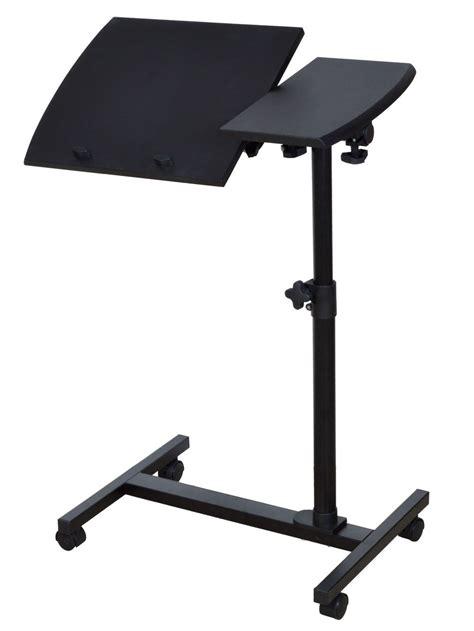 rolling laptop desk adjustable rolling laptop desk stand table adjustable portable mobile