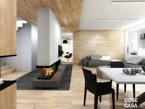 Living Open Space Nell U0026 39 Appartamento Con Mansarda