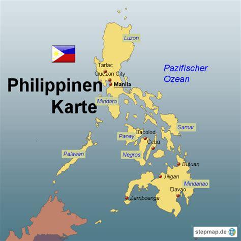 philippinen karte von karten landkarte fuer die philippinen