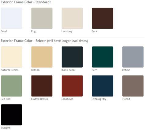 window frame colors vinyl window colors neiltortorella com