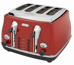 Toaster Retro Design : delonghi icona retro 4 slice scarlet red toaster cto4003r uk offers direct ~ Frokenaadalensverden.com Haus und Dekorationen