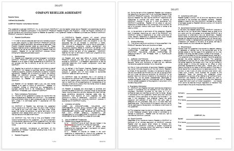private label agreement template  word templates