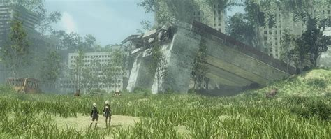 city ruins nier automata  mp rendering