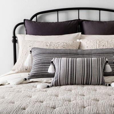 Comforter Set Simple Stripe  Stitch Embroidery