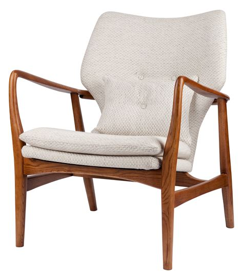 siege salon fauteuil rembourré peggy tissu bois ecru bois