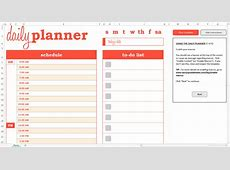 Dynamic Daily Planner Excel Template Savvy Spreadsheets