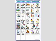 household chores pictionary worksheet Free ESL printable