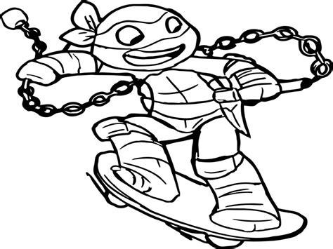 New Tmnt Coloring Pages Printable Turtles Teenage Mutant