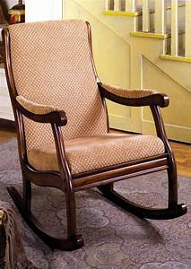 Liverpool, Traditional, Antique, Oak, Rocking, Chair, With, Padded, Fabric, Seat, Cm