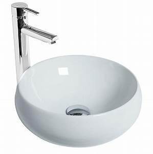 Vasque Ronde A Poser 30 Cm : vasque poser ronde galet discac ~ Premium-room.com Idées de Décoration