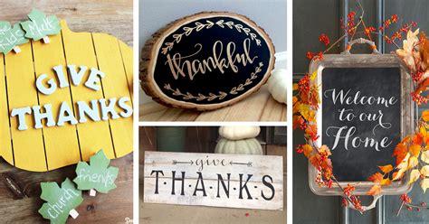 diy thanksgiving signs ideas  designs