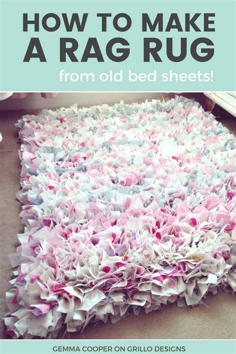 How To Make A Diy Rag Rug  Using Old Bedding Learning