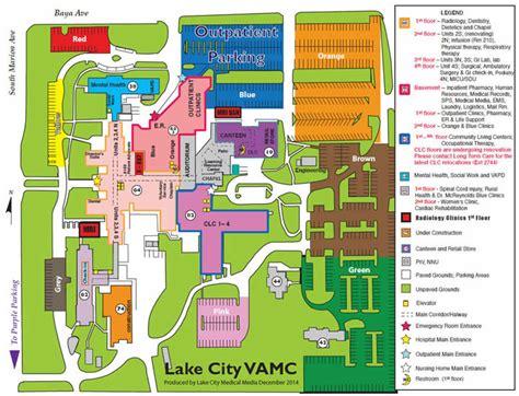 lake city va medical center parking map north floridasouth georgia