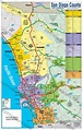 San Diego County Zip Code Map - COASTAL (County Areas ...