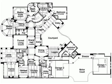 six bedroom floor plans eplans mediterranean house plan six bedroom 7752