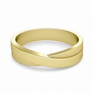 infinity wedding band in 14k gold mens matte finish ring 5mm With infinity wedding ring gold
