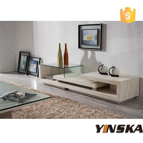 new product glass top marble tv stand foshan wholesale