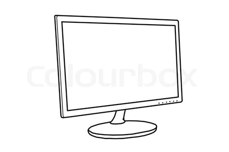 drawing monitor stock photo colourbox