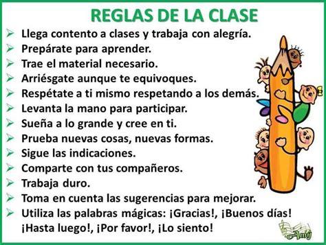 las reglas de clase