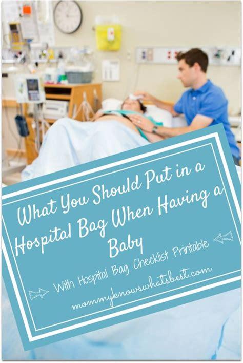 put   hospital bag    baby