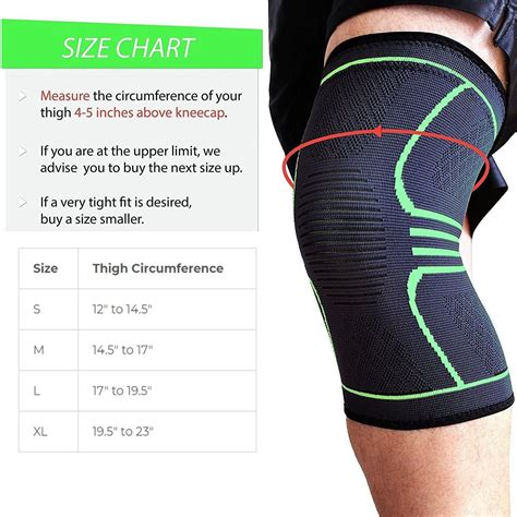 Knee Brace Compression Support Sleeve Oxyflow Lift and