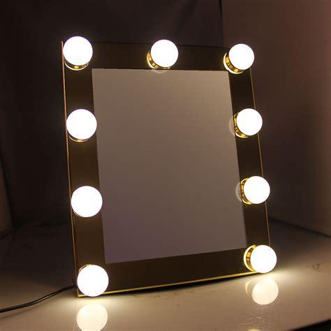makeup mirror with light bulbs vanity tabletops lighted makeup mirror with 9 led bulb