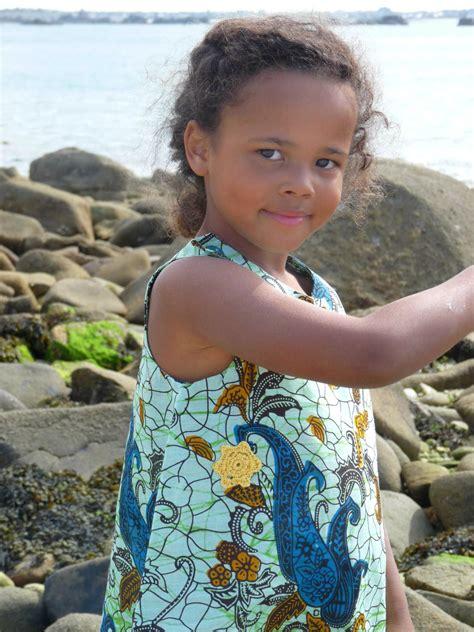 Robe ethnique en tissu africain ou wax : modèle ...