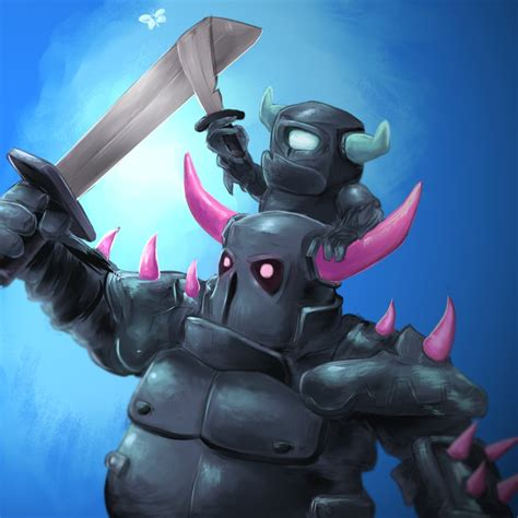 Fondos De Pantalla De Clash Royale Pekka Y Mini Pekka By Widoodles On Deviantart