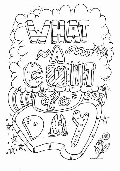Coloring Pages Adult Printable Swear Word Quotes