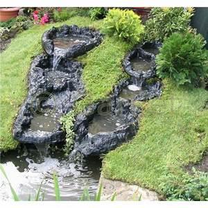 Kleiner Teich Im Garten : bachlauf modul f r gartenteich im set g nstig bei garpet ~ Markanthonyermac.com Haus und Dekorationen