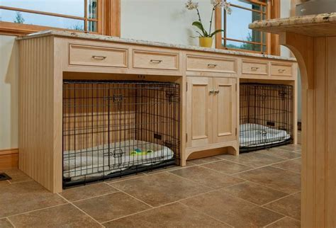 transitional dog crates laundry room traditional with pets