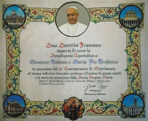 Elemosineria Apostolica Ufficio Pergamene Come Richiedere La Benedizione Apostolica Su Pergamena