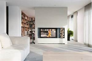 Cheminée à Foyer Ouvert : cheminee foyer ouvert double face projet hernandez ~ Premium-room.com Idées de Décoration