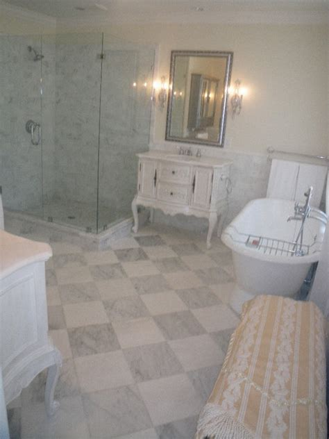 Modern Bathroom And Tiles St Marys by Thassos Marble Checker Board Master Bathroom