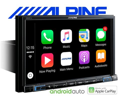 autoradio mit android auto alpine autoradio x802d u carplay android usb dab navi